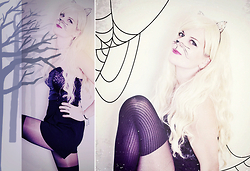 Chris Gentner - New Look Jumpsuit, Pretty Polly Stocking Tights - *miaow* // halloween cat