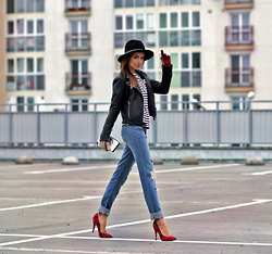 Perventina Ols - Janessa Leone Hat, Yoins Jeans, Karl Lagerfeld Bag, Topshop Heels - Once upon an October