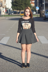 Carina Gonçalves - Pull & Bear Shirt, Pull & Bear Skirt - I still mean every word I say to you.