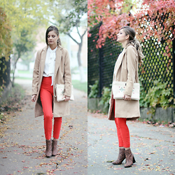 Madalina Gugila - Gina Tricot Coat, Mango Shirt, H&M Boots - October morning
