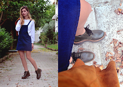 Euridice K - Zara Jeans Dress, Pull & Bear White Sweaters, So Shoe Shoes - Cozy Chic|So Shoe X Chatoyant21|