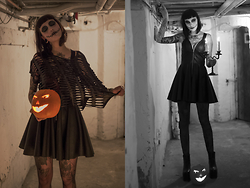 Jane Dean - Black Milk Clothing Shredded Top, Black Milk Clothing Biker Dress - Belated Happy Halloween <3