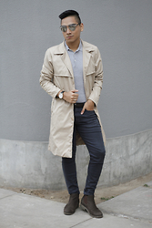 Jimy Escobedo - Dior Homme So Real Sunnies, Papa Con Camote Camel Coat, H&M Polo, H&M Pants, Ecco Chelsea Boots - Camel Coat