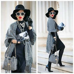 Laura Veronica - Stradivarius Dress, Orsay Poncho, Stradivarius Gloves, H&M Hat, Mussette Shoes - Addicted to...Coco Chanel!