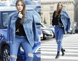 Dominique B. - Pepe Jeans London Jacket, Karl Lagerfeld Bag, River Island Boots - Denim for any time