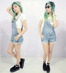 Lady Lou - Cotton On Dungaree, Black Creepers - 11052015