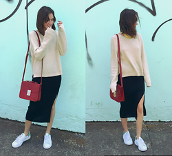 Mariori Macouzet - Forever 21 Bag, Adidas Stan Smith, Pull & Bear Necklace/Choker, Forever 21 Skirt - Windy