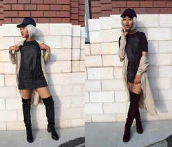 Kiani Iman - Zara Trf Dress, Divided Knee High Boots, Unif Trench - 11.6.15