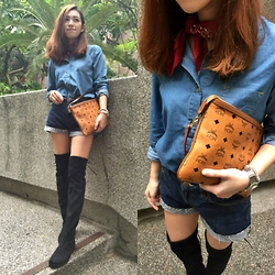 Vinky Wong - Mcm Smal Bag, Seiko Watch, Asos Shirt, Links Of London Bracelet - All Jeans