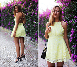 Maria Inês Ribeiro - Missguided Yellow Dress - Sunflower