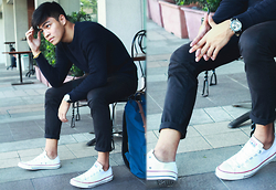 Andre Tan - H&M Knitted Pullover, Wenger Watch, Converse Sneakers - Knitted