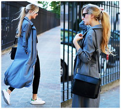 Marta M - Shein Coat, Adidas Sneakers - Some shades of grey