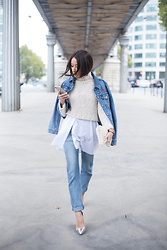 Alex Closet - Levis Jacket, Levis Jeans, Zara Sweater - Layered