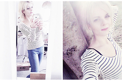 Chris Gentner - Monki Striped Longsleeve, Dorothy Perkins Hight Waist Jeggings - Casual denim & stripes