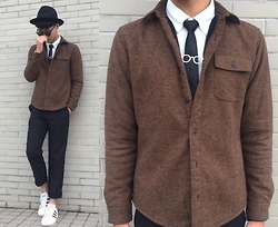 Anan Chien - Asos Hat, Gu Jacket, Adidas Shoes - Today's Style