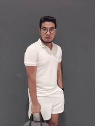 John Roy Agcaoili - White Polo Shirt, White Shorts - Outfit Of The Day 008