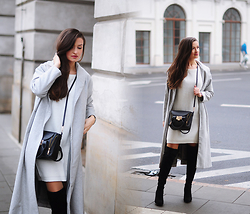 Magdalena S - Stili Boots, Mohito Bag, Shein Coat - Over the knee boots