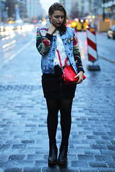 Jasmin Fatschild - Jacket, Skirt, Shoes, Bag, Sweater - THE JEANS JACKET