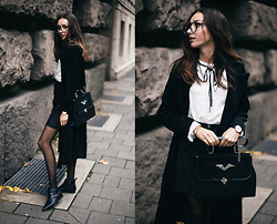 Bea G - Coat, Skirt, Blouse, Bag, Boots - Darker Days