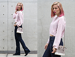 Didi Ibarra Rake - Zara Pink Oversize Jumper, Parker Smith Bootcut Jeans, Coach Handbag - Pink is so my colour