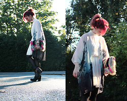 Sharley L. - Asos Faux Fur Clutch, H&M Kimono, Topshop White Dress - Better Love