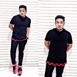 John Roy Agcaoili - Forever 21 Black Hoody Shirt, Black Jogger, Adidas Run Smart Shoes - Outfit Of The Day 009