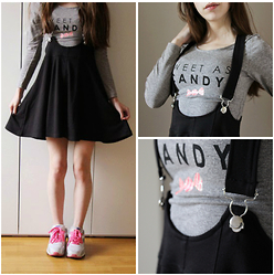 Lily Braz - H&M Skirt Overalls, H&M Grey Tshirt, Nike Air Max 90 - Sweet As Candy