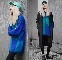 Ebba Zingmark - Brixtol   Sweet Denim Coat, 2hand From A Flea Market In Berlin Sweater, Lacoste Cap, Henry Kole Boots - EVERY SYLLABLE