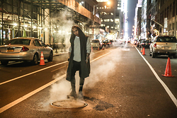 Kenneth Quinn - H&M Sweater, Zara Cloak, Danielpatricknyc Pants - The Alley