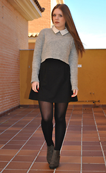 Carmen Méndez - Zara Sweater, Zara Dress, Zara Ankle Boots - Dress under sweater