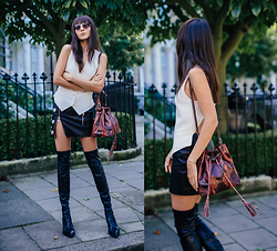 Doina Ciobanu - Vest, Skirt, High Boots - DOUBLE GAME