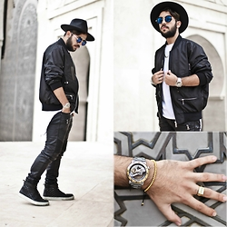Khalil Alaoui - Guylook Jacket, Dingems Watches, Dingems Bracelet - You still far of this type of shit