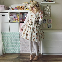 Lauralyn A. - Angelic Pretty Melty Cream Donuts Jsk, Lc Lauren Conrad Blouse, Bait Footwear Harrow, Angelic Pretty Melty Cream Donuts Socks, Angelic Pretty Melty Cream Donuts Bow - Sweet Mint