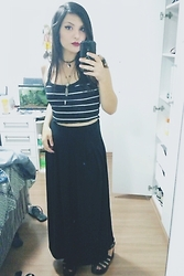 Letícia R -  - Stripes and maxi skirt