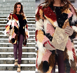 Perventina Ols - Choies Coat, Freebird By Steven Boots, Filatova Irina Clutch - Hi Winter!