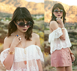 KENDALL SANCHÈZ - Rose Gold Faux Suede Mini Skirt - ~.Desert Rose.~