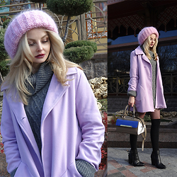 Violetta Privalova - Cndirect Coat, Asos Sweater, Asos Bag, Сhoies Boots, Asos Knee Socks - Chic and cozy oversize