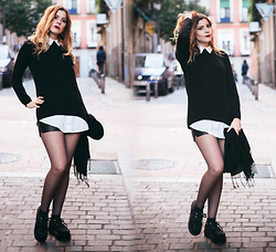 Vita Dinamita - Primark Collar Sweater, She Inside Shorts, Ebay Creepers - Wednesday
