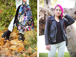 Modenfer ! - Mr. Gugu & Miss Go Collage Backpack - Never say never