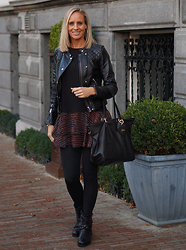 Chris - H&M Top/ Dress, H&M Bokerjacket, Fab Leather Bag, Omoda Boots - Dress or a top