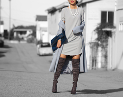 Queen Horsfall - Sheinside Long Grey Coat, Christina Karin Fw15, Public Desire, Queenhorsfall - Let's talk gray