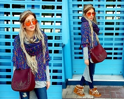 Joanna L - Brylove Sunnies, Boohoo Dress, Mango Jeans, Parfois Bag - #gypsy