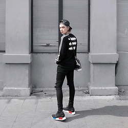 Kelbin Lei - Glam Div Long Sleeve Tshirt, Cheap Monday Pants, Adidas Sneakers - KBL 057
