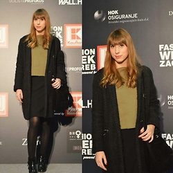 Monika Tremski - Zara Coat, Dressin Bag, Romwe Boots - Fashion Week Zagreb