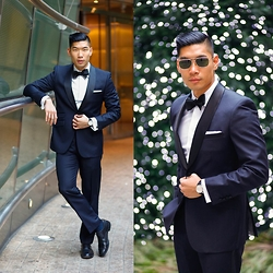 Leo Chan - Combatant Gentlemen Midnight Tux, Combatant Gentlemen Tuxedo Shirt, Combatant Gentlemen Bow Tie, Allen Edmonds Park Avenue Oxford Shoes, Bulova Watch - Midnight Tux