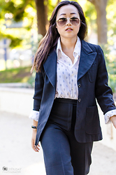 Nicole Kim - Toms Sunglasses - Suit Up