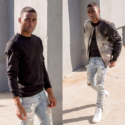 Willie Sparks - Diesel Sweater, Abercrombie & Fitch Jeans, Diesel Shoes - Ripped Away