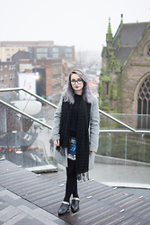 Tessa Holly - Primark Wool Coat, Primark Scarf, Black Milk Clothing Cathedral Dress, Jeffrey Campbell Shoes Jett, American Apparel Cable Knit Jumper - Layering Layers