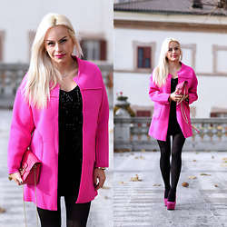Eleonora Petrella - Choies Fuchsia Coat - My fuchsia party look!