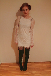 Veera Johanna - Gina Tricot Dress, H&M Thigh High Boots - Princess Leia